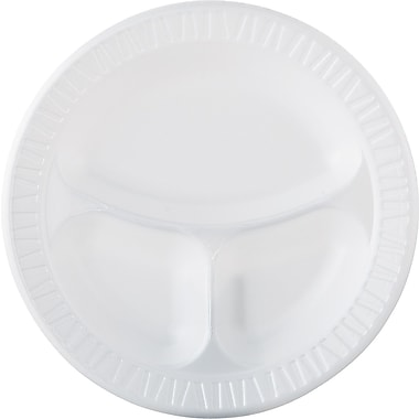 Dart® Dinnerware Compartmented Plate, 20 1/2in. x 20 1/2in. x 20 1/2in.
