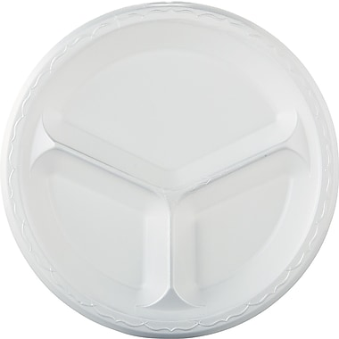 GenPak® Elite Dinnerware Compartment Laminated Plate, 43 1/5in. x 12in. x 12in.