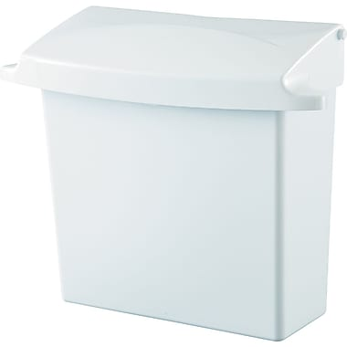 Rubbermaid® 614000 Sanitary Napkin Receptacle With Rigid Liner, White