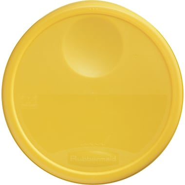 Rubbermaid® 5730 Round Storage Container Lid, 2 3/4in.(H) x 13 1/2in.(Dia), Yellow