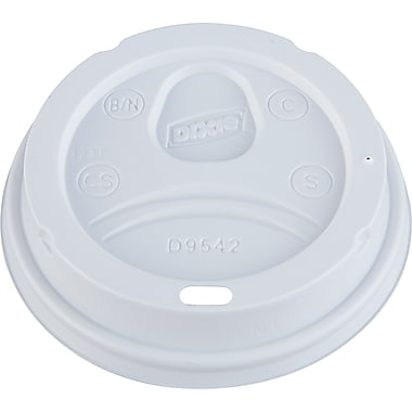 Dixie® D9542 Dome Drink-Thru Lid, 10 - 16 oz., White, 1000/Case