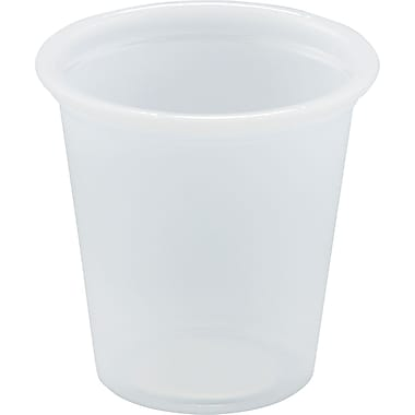 SOLO® Plastic Souffle Portion Cup, Translucent, 3/4 oz
