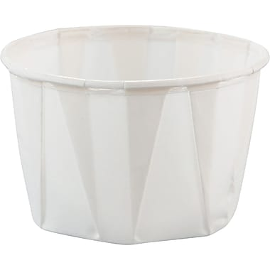SOLO® Treated Paper Souffle Portion Cup, White, 2 oz