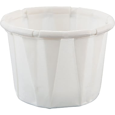 SOLO® Treated Paper Souffle Portion Cup, White, 1/2 oz