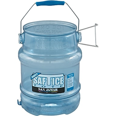 San Jamar® Saf-T-Ice® Original & Shorty™ SI6100 Tote, 5 gal