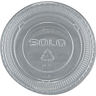 SOLO® No-slot Plastic Cup Lid, Clear, For 1 1/2 - 3 1/2 oz Cups