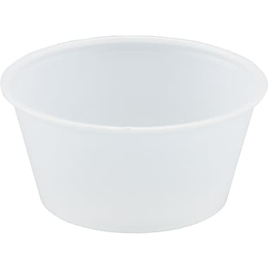 SOLO® Plastic Souffle Portion Cup, Translucent, 3 1/4 oz