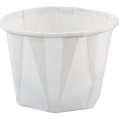 SOLO® Treated Paper Souffle Portion Cup, White, 1 oz
