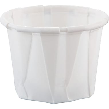 SOLO® Treated Paper Souffle Portion Cup, White, 3/4 oz