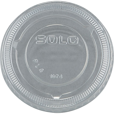 SOLO® No-slot Plastic Cup Lid, Clear, For 3 1/4 - 9 oz Cups