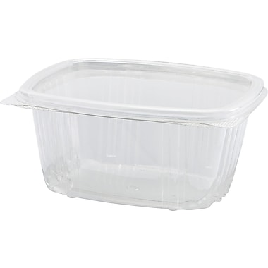 Genpak® AD 200/Case Clear Hinged Deli Containers
