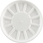 Dart® Vented Foam Lid, White, for 6 - 32 oz Foam Cups