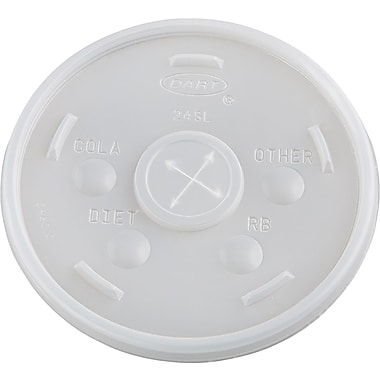 Dart® Plastic Cold Cup Lid, Translucent, for 24 oz Dart® Cold Cups
