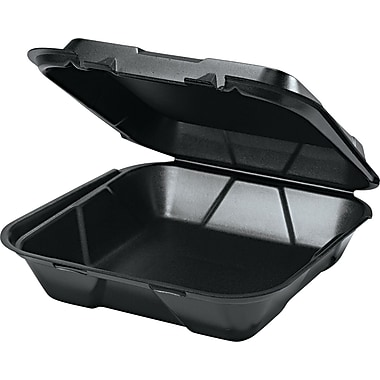 Genpak® Hinged Carryout Container, 3in. H x 9 1/4in. W x 9 1/4in. D