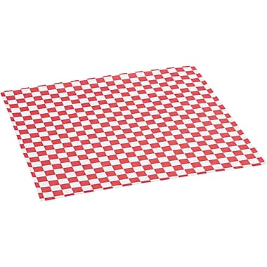 Bagcraft Papercon® Red Check Grease-resistant Paper Wrap/Liner, 12in. L x 12in. W