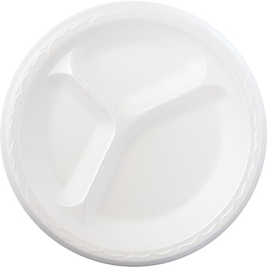Genpak® Celebrity Dinnerware Compartment Plate, 33 3/5in. x 12in. x 12in.
