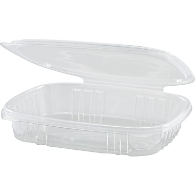 Secure Seal® Shallow Hinged Deli Container, 1in. H x 6 2/5in. W x 7 1/4in. D