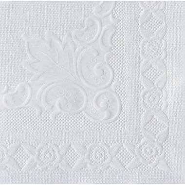 Hoffmaster® 601SE1014 Dubonnet Placemat, White, 10in.(W) x 14in.(L)