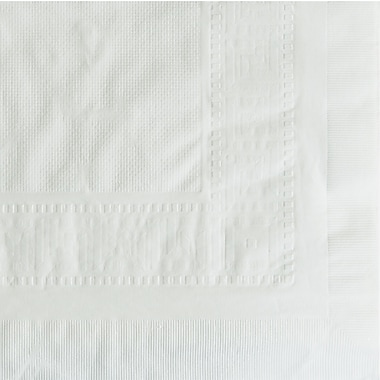 Hoffmaster® 210130 Table Cover, White, 108''(W) x 54