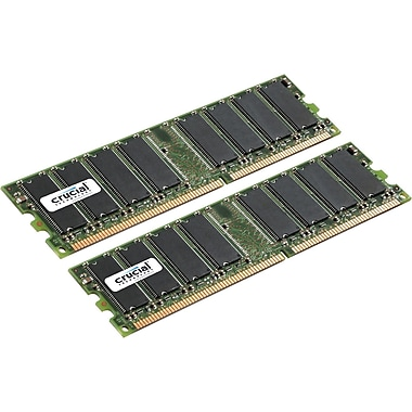 Crucial Technology CT2KIT12864Z40B DDR (184-Pin DIMM) Desktop Memory, 2GB