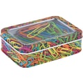 Staples® Paper Clips in a Printed Tin, 50/Pack