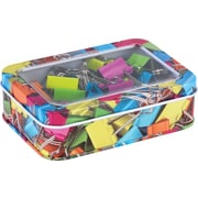 Staples® Binder Clips in a Printed Tin, 25/Pack