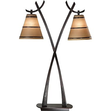 Kenroy Home Wright 2 Light Table Lamp, Oil Rubbed Bronze Finish