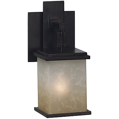 Kenroy Home Plateau 1 Light Wall Sconce, Oil Rubbed Bronze Finish