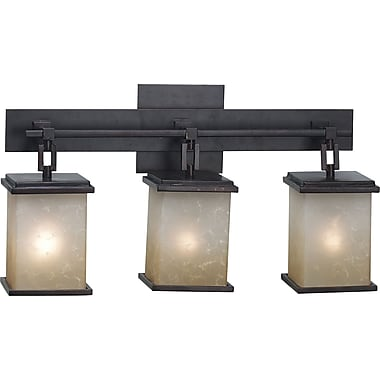 Kenroy Home Plateau 3 Light Vanity, Oil Rubbed Bronze Finish
