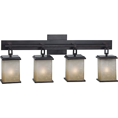 Kenroy Home Plateau 4 Light Vanity, Oil Rubbed Bronze Finish
