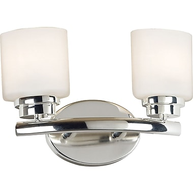 Kenroy Home Bow 2 Light Vanity, Polished Nickel Finish