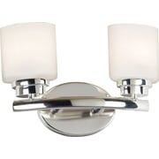 Kenroy Home Bow 2 Light Vanity, Polished Nickel Finish