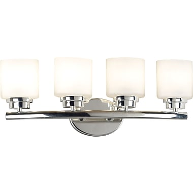 Kenroy Home Bow 4 Light Vanity, Polished Nickel Finish