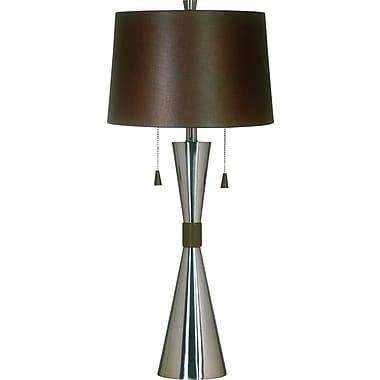 Kenroy Home Bella Table Lamp, Brushed Steel Finish