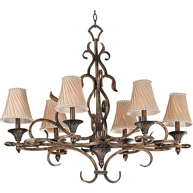 Kenroy Home Verona 6 Light Chandelier, Aged Golden Copper Finish