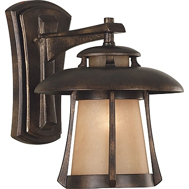 Kenroy Home Laguna Medium Wall Lantern, Golden Bronze Finish
