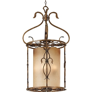 Kenroy Home Verona 3 Light Foyer Pendant, Aged Golden Copper Finish