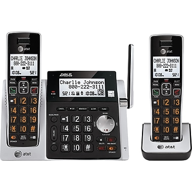 AT&T CL83213 2 Handset Cordless Telephone with Answering System/Dual Caller ID/Call Waiting