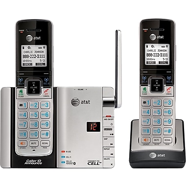 AT&T TL92273 2 Handset Connect to Cell Telephone with Digital Answering System/Caller ID