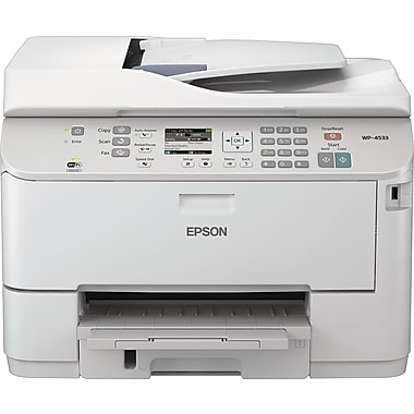 Epson® WorkForce Pro WP-4533 Multifunction Inkjet Printer, 13 2/5in. H x 18 1/10in. W x 16 1/2in. D