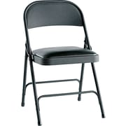 Alera® Folding Chair with Padded Seat, Graphite