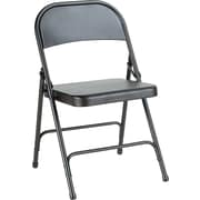 Alera® Steel Folding Chair, Graphite
