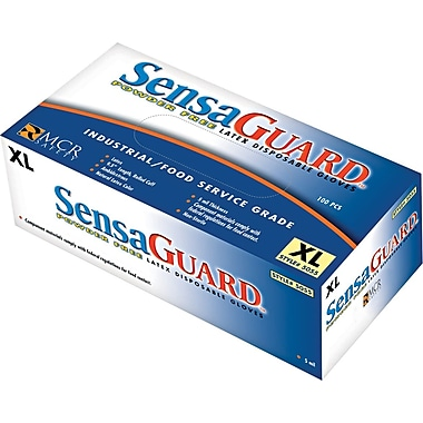 SensaGuard™ Industrial Grade Double Chlorinated Disposable Gloves, XL