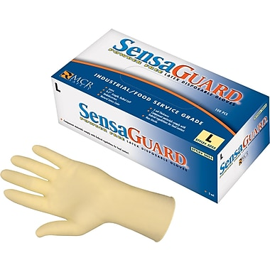 SensaGuard™ Industrial Grade Double Chlorinated Disposable Gloves, Large