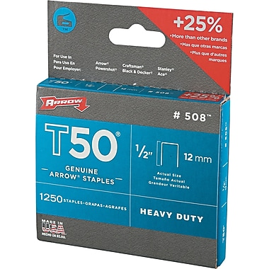 Arrow Fastener T50™ Outward Clinch Staple Gun, 1/2in. L Leg