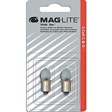 Maglite® Replacement Lamp for AA Mini Flashlight, 4 1/4in. H x 1 5/6in. W x 1/4in. D