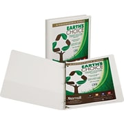 Samsill Earth's Choice Biodegradable .5-inch Round 3-Ring Binder, White (18917)