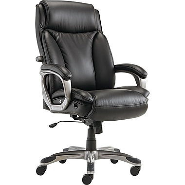 Alera® Veon Series Leather High Back Executive Chair, Black