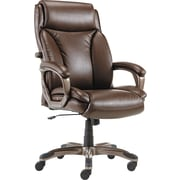 Alera® Veon Series Leather High Back Executive Chair, Brown