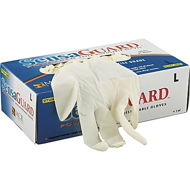 SensaGuard™ Industrial Grade Chlorinated Disposable Gloves, Large